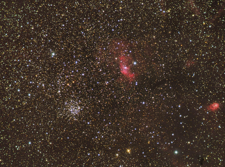 NGC7635 + M52 particolare